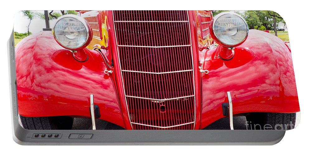 Truck Portable Battery Charger featuring the photograph Truck Red by Gary Richards