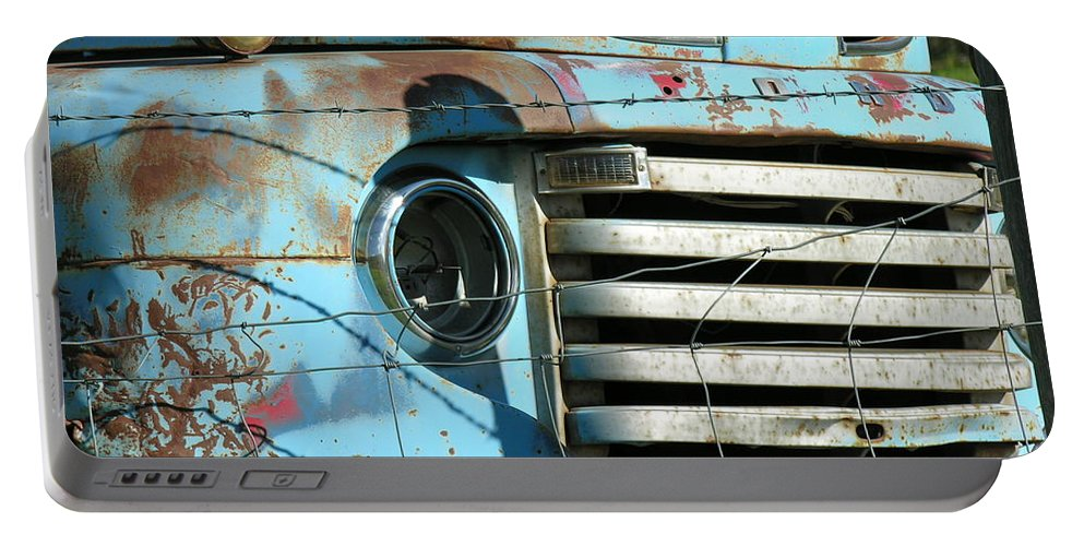 Truck Portable Battery Charger featuring the photograph Trucks Life by Diane Greco-Lesser