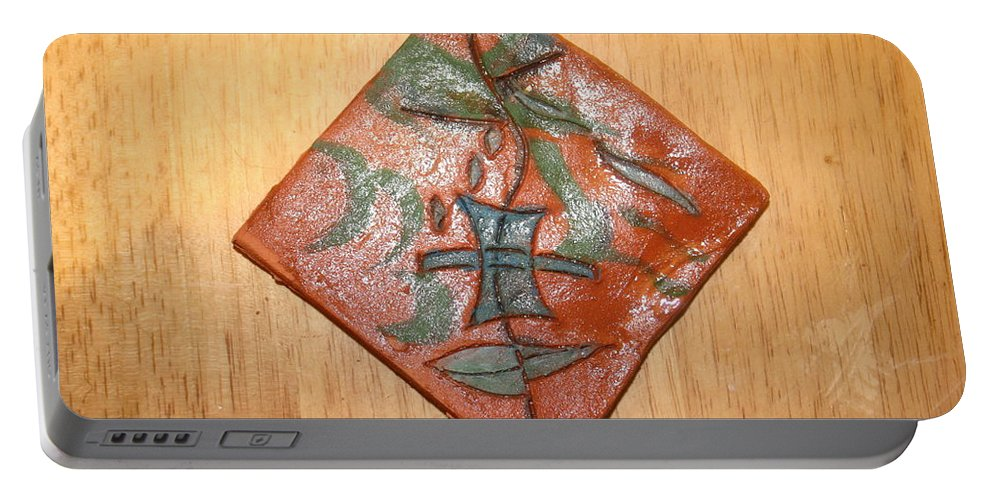 Jesus Portable Battery Charger featuring the ceramic art True Shepherd 17 - Tile by Gloria Ssali