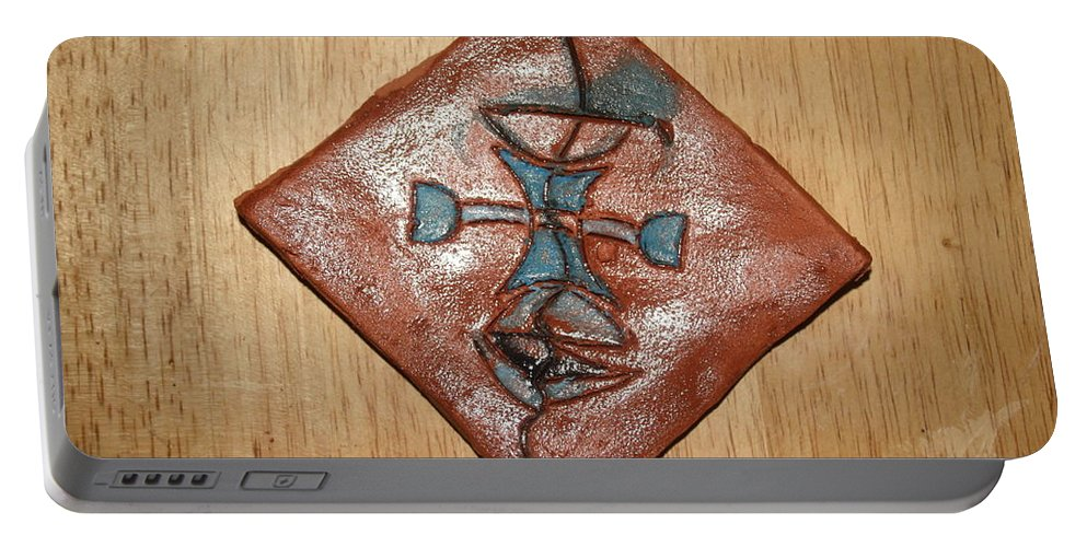 Jesus Portable Battery Charger featuring the ceramic art True Shepherd 30 - Tile by Gloria Ssali