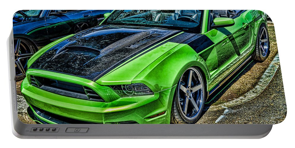 Truefiber Portable Battery Charger featuring the photograph Truefiber Mustang by Tommy Anderson