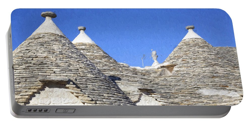 Alberobello Portable Battery Charger featuring the photograph Trulli II by Julie Woodhouse