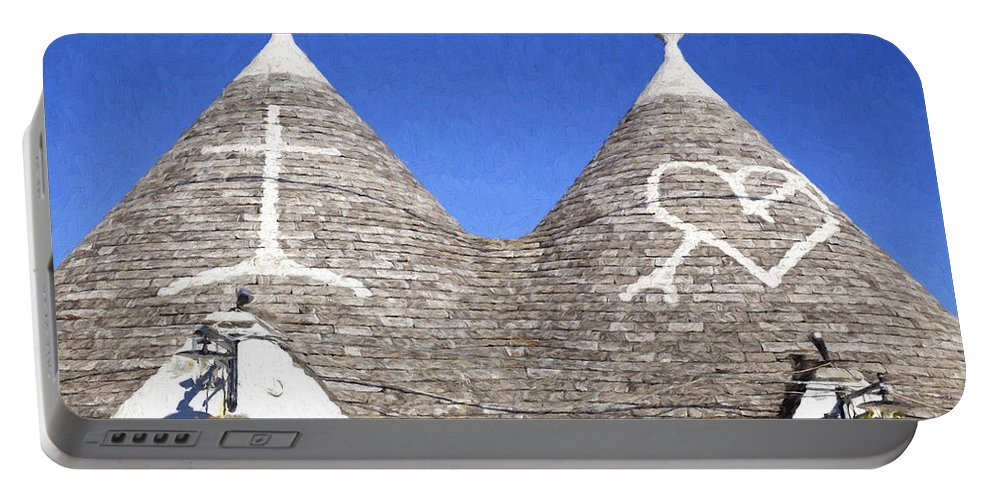 Alberobello Portable Battery Charger featuring the photograph Trulli by Julie Woodhouse