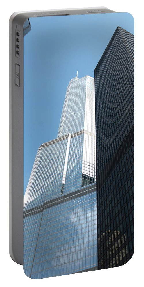 Trump Portable Battery Charger featuring the photograph Trump Building From Other Side by Diane Schuler
