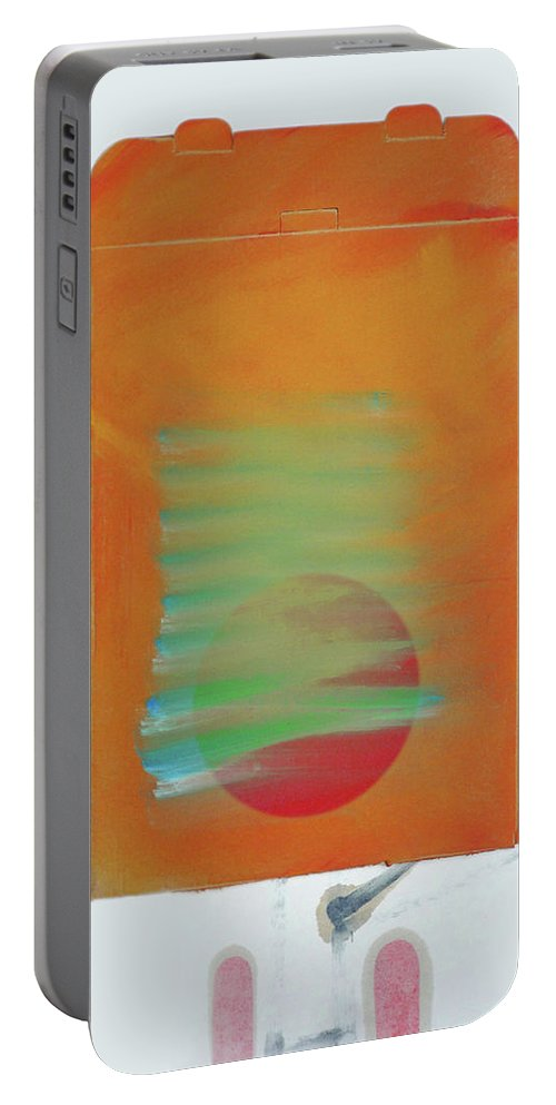Tsunami Portable Battery Charger featuring the painting Tsunami by Charles Stuart