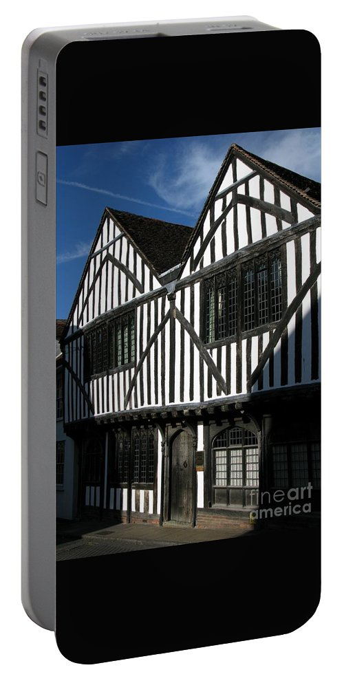 Tudor Portable Battery Charger featuring the photograph Tudor Timber by Ann Horn
