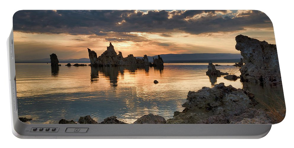Mono County Portable Battery Charger featuring the photograph Tufa Sunrise by Doug Holck