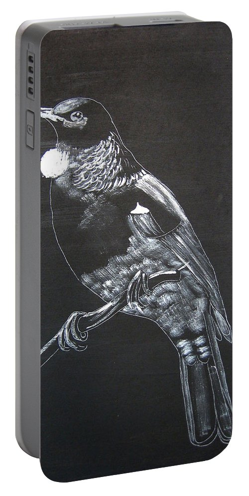 Tui Portable Battery Charger featuring the painting Tui by Richard Le Page