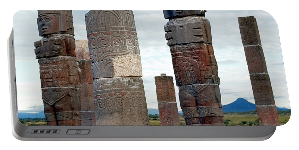 10th Century Portable Battery Charger featuring the photograph Tula: Toltec Monuments by Granger