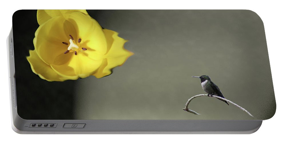 Tulips Portable Battery Charger featuring the digital art Tulip Dreams II by Mark StJohn