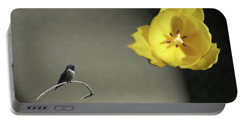 Tulips Portable Battery Charger featuring the digital art Tulip Dreams IIi by Mark StJohn