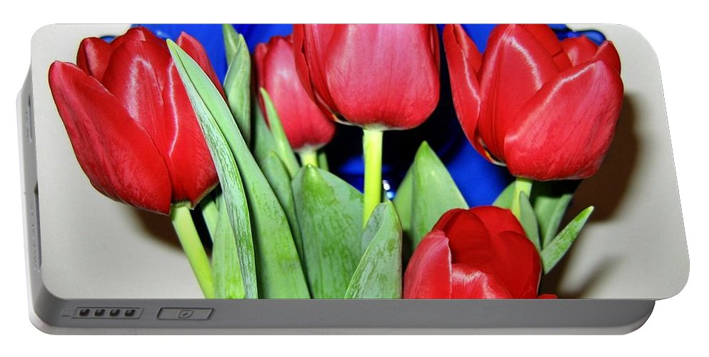 Tulips Portable Battery Charger featuring the photograph Tulipfest 1 by Will Borden