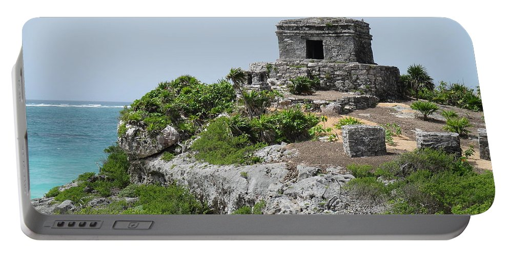 Tulum Portable Battery Charger featuring the photograph Tulum by Anthony Schafer