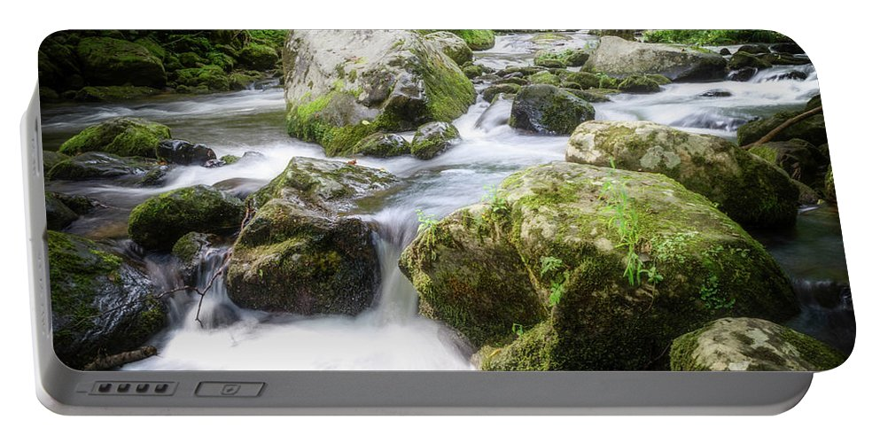 Landscape Portable Battery Charger featuring the photograph Tumbling Creek by Jim Love