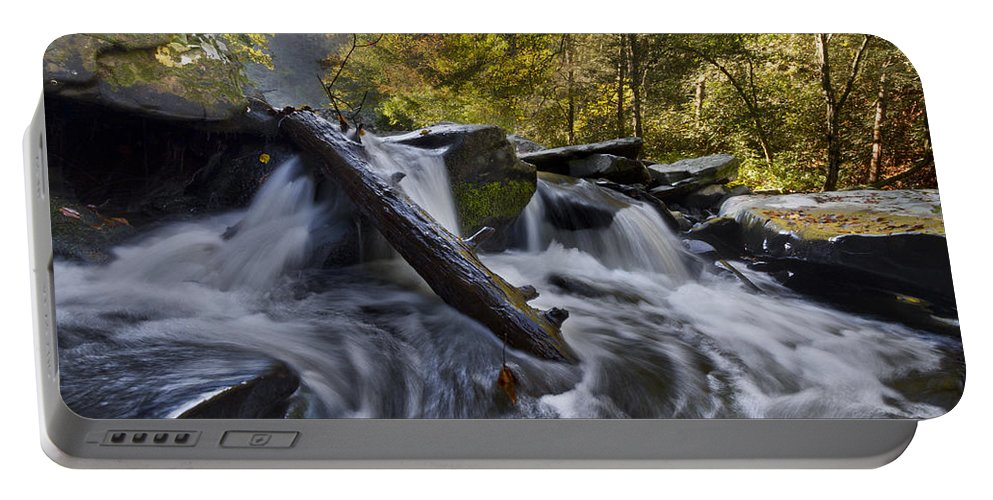 Appalachia Portable Battery Charger featuring the photograph Tumbling by Debra and Dave Vanderlaan