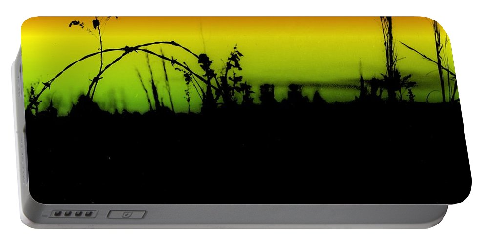 Horizontal Abstract Paintings Portable Battery Charger featuring the digital art Tumbling Down by Robert Grubbs