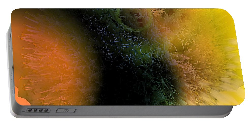 Abstract Portable Battery Charger featuring the digital art Tumbling by Ian MacDonald