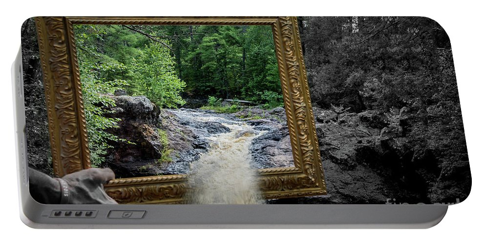 Amnicon Portable Battery Charger featuring the photograph Tumbling Water by Deborah Klubertanz