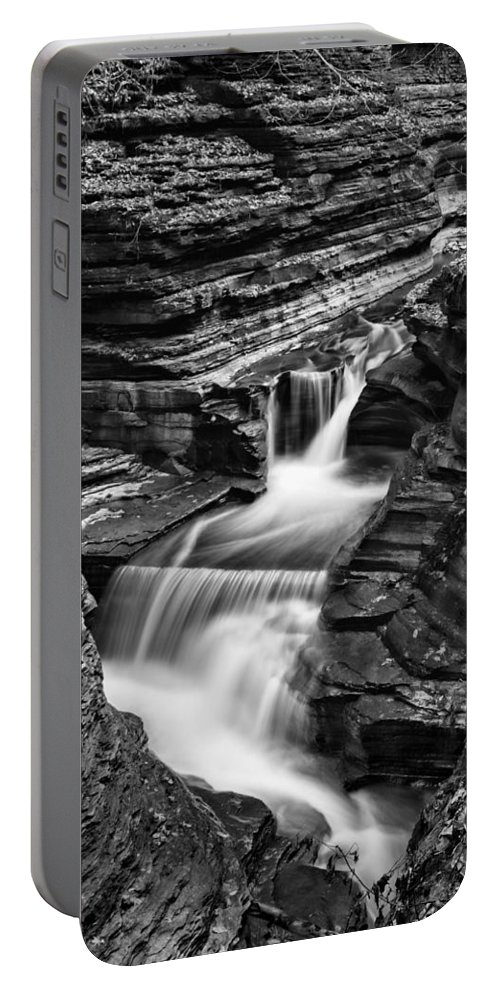 Rainbow Falls Portable Battery Charger featuring the photograph Tumbling Waters #2 by Stephen Stookey