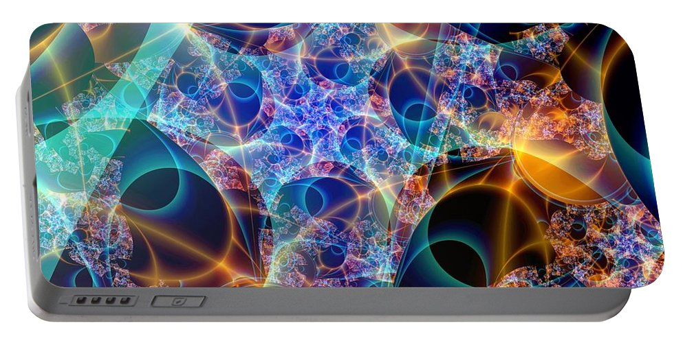 Fractal Art Portable Battery Charger featuring the digital art Tunica Intima by Ron Bissett