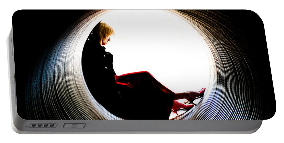 Woman Portable Battery Charger featuring the photograph Tunnel by Scott Sawyer