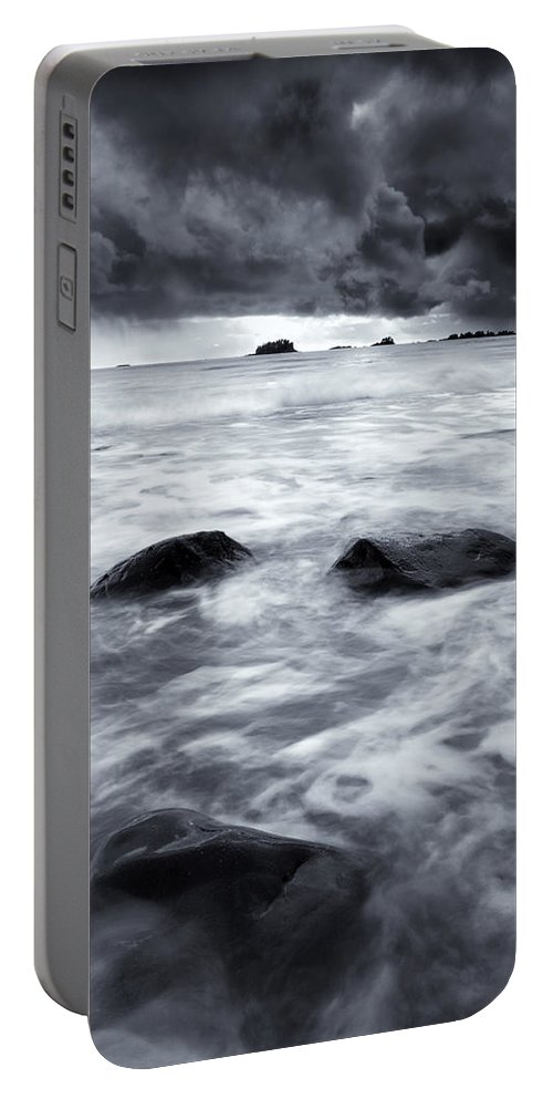 Sitka Portable Battery Charger featuring the photograph Turbulent Seas by Mike Dawson