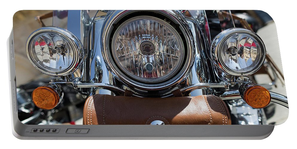Motorbike Portable Battery Charger featuring the photograph Turgalium Motorcycle Club 05 by Sam Garcia