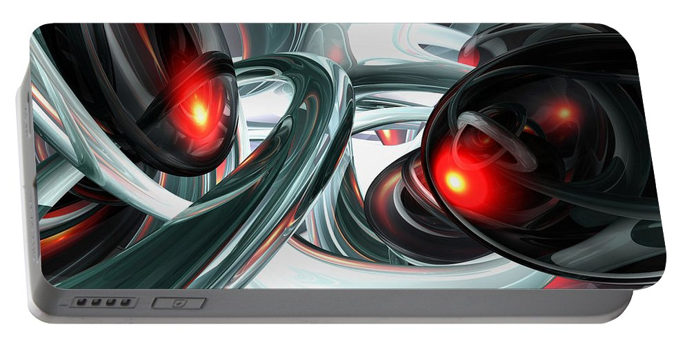 3d Portable Battery Charger featuring the digital art Turmoil Abstract by Alexander Butler