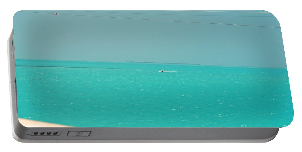 Key West Florida Portable Battery Charger featuring the photograph Turquoise Ocean  by Davids Digits