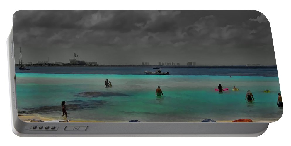 Cancun Mexico Portable Battery Charger featuring the photograph Turquoise Paradise by Douglas Barnard