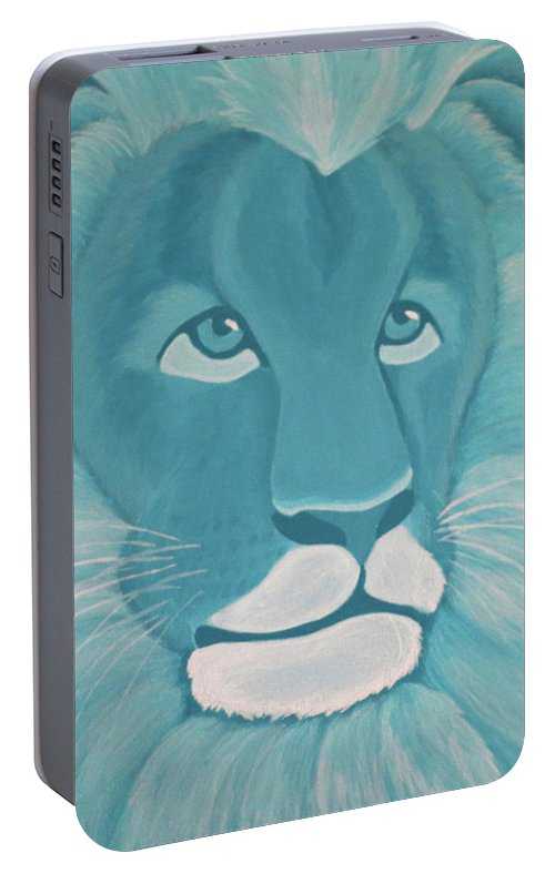 Turquoise Lion Portable Battery Charger
