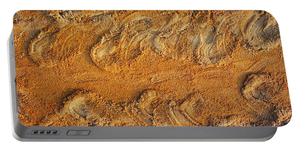Loggerhead Portable Battery Charger featuring the photograph Turtle Tracks by Paul Rebmann