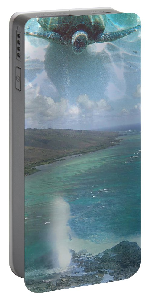 Turtle Portable Battery Charger featuring the photograph Turtle Vision by Angie Hamlin