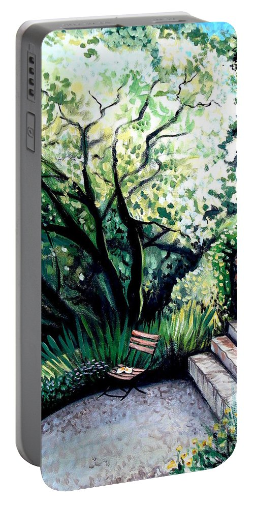 Tuscany Portable Battery Charger featuring the painting Tuscan Gold by Elizabeth Robinette Tyndall