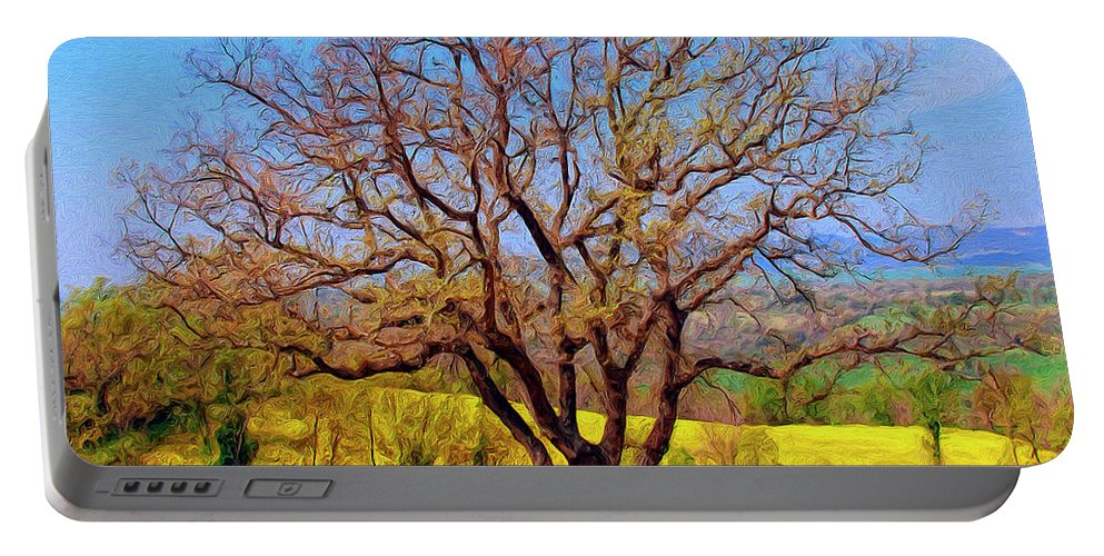 Italy Portable Battery Charger featuring the painting Tuscan Splendor by Dominic Piperata