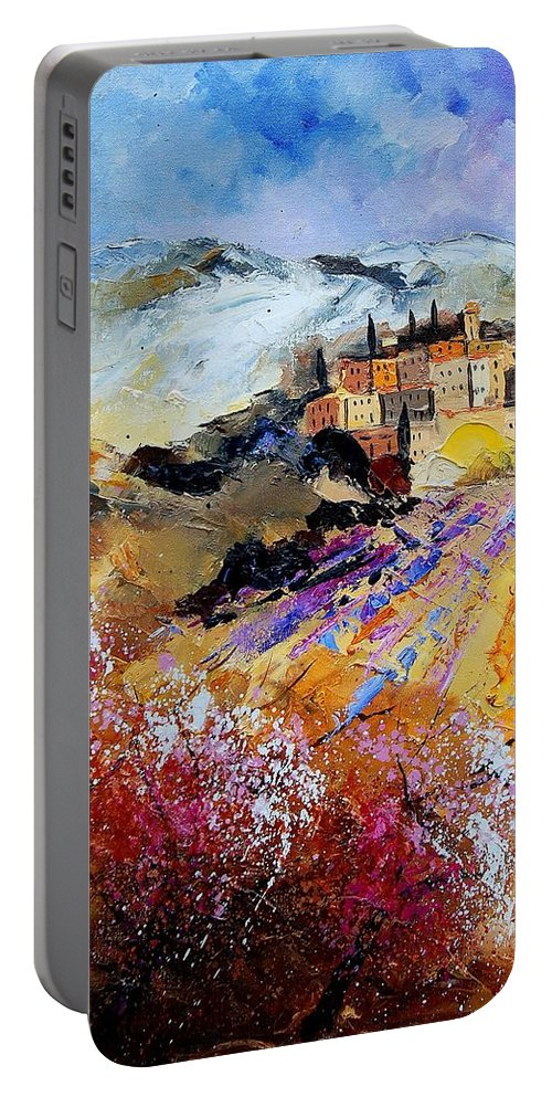 Provence Portable Battery Charger featuring the painting Tuscany 56 by Pol Ledent