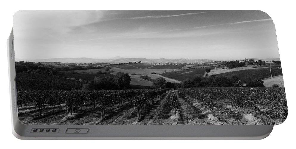 Tuscany Portable Battery Charger featuring the photograph Tuscany by Modern Art