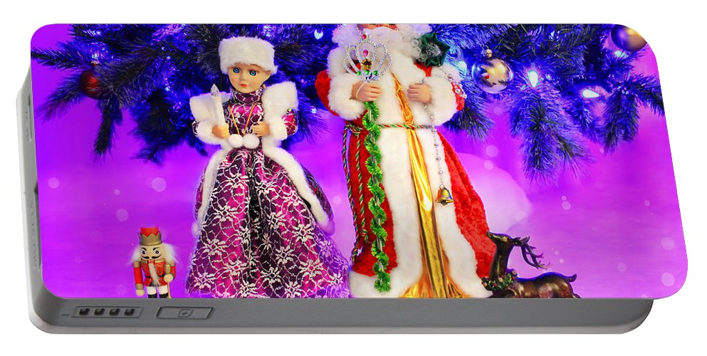 Christmas Portable Battery Charger featuring the photograph Twas The Night Before Christmas by Iryna Goodall