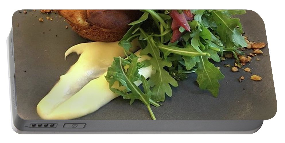 Portable Battery Charger featuring the photograph Twice Baked Binham Blue Cheese & Walnut by John Edwards