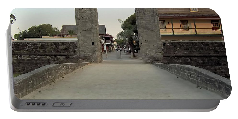 City Gates Portable Battery Charger featuring the photograph Twilight At The City Gates by D Hackett