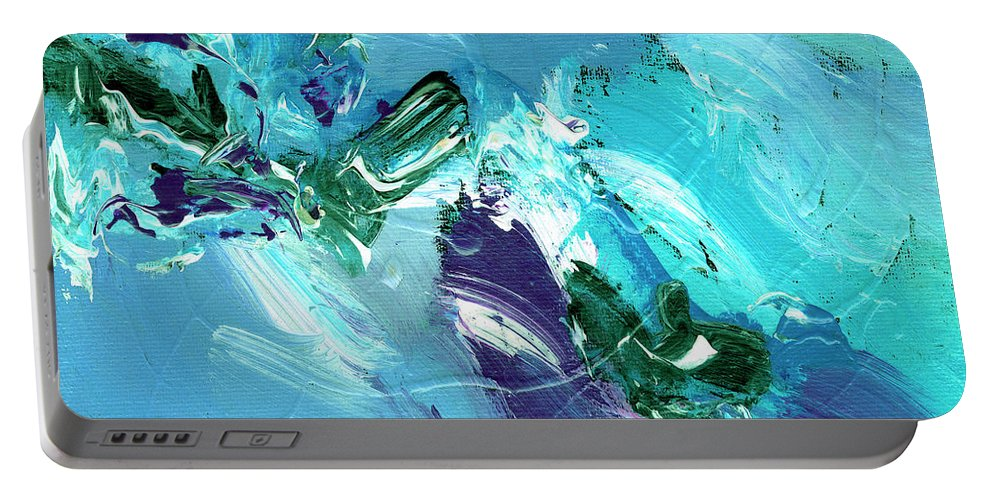 Abstract Portable Battery Charger featuring the painting Twilight Big Sur by Dominic Piperata