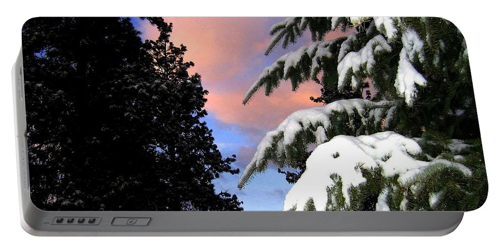 Sunset Portable Battery Charger featuring the photograph Twilight Hour by Will Borden