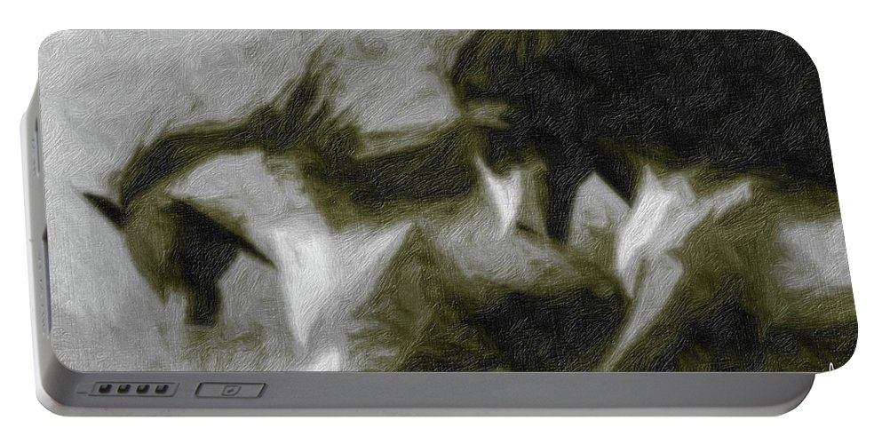 Horse Portable Battery Charger featuring the photograph Twilight In Mescalero by Terry Fiala