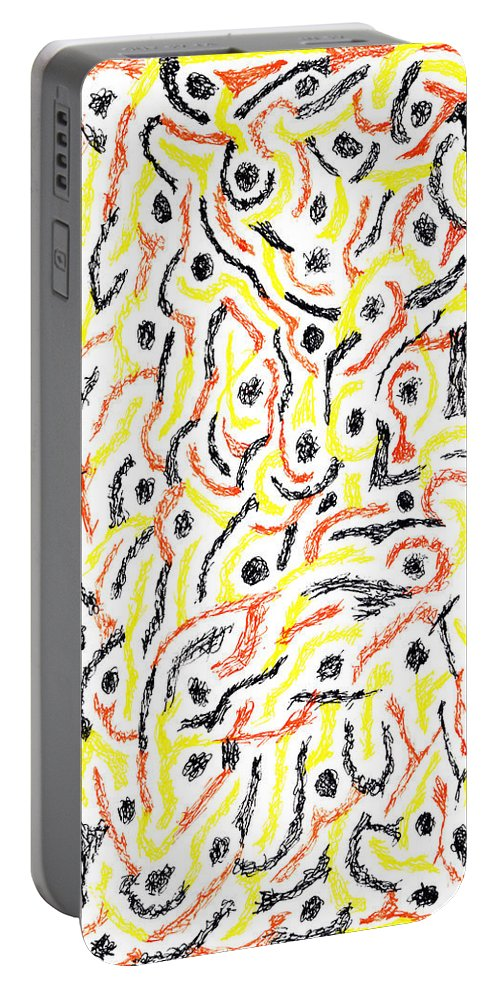 Mazes Portable Battery Charger featuring the drawing Twilight by Steven Natanson
