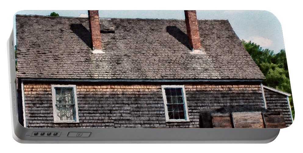 House Portable Battery Charger featuring the painting Twin Chimneys by RC DeWinter