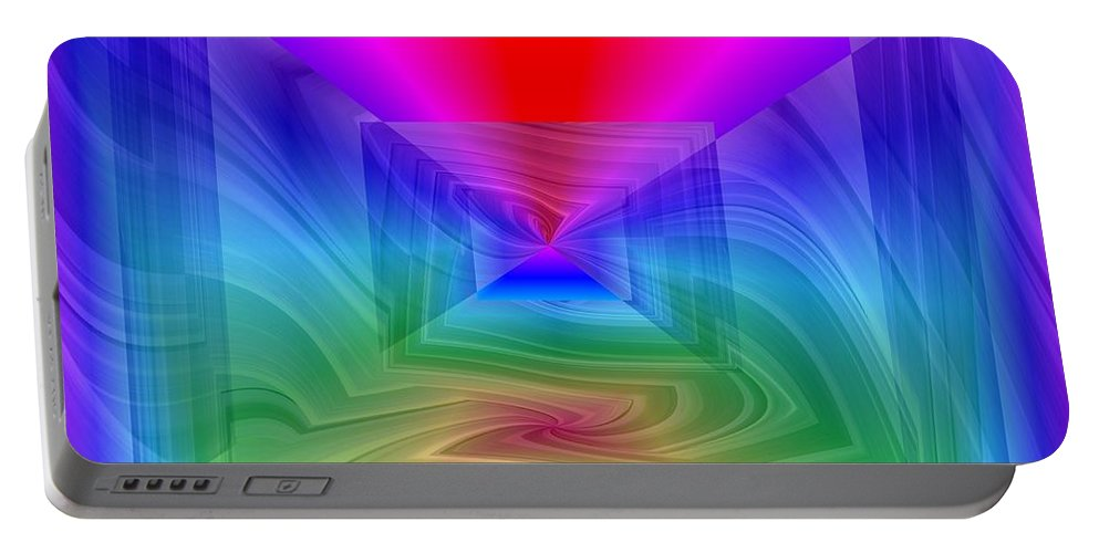 Twister Portable Battery Charger featuring the digital art Twister In A Prism by Tim Allen