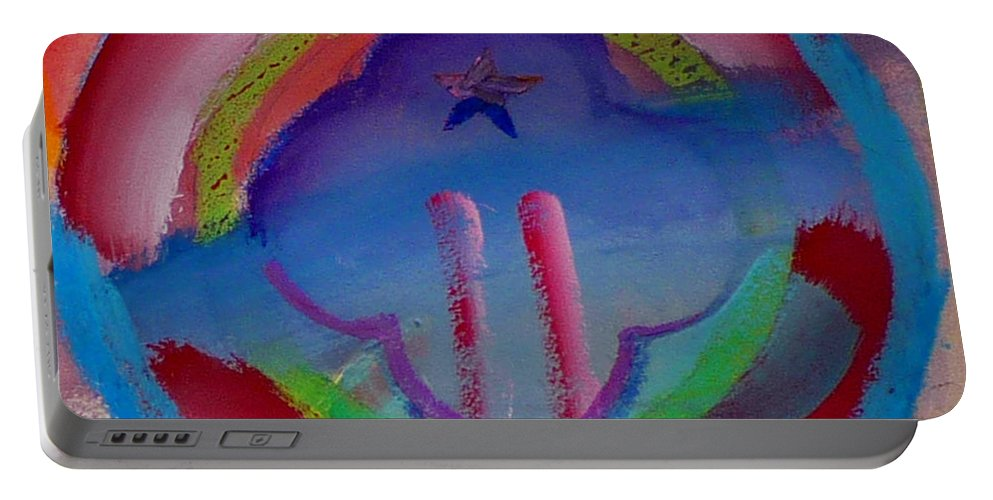 Logo Portable Battery Charger featuring the painting two by Charles Stuart