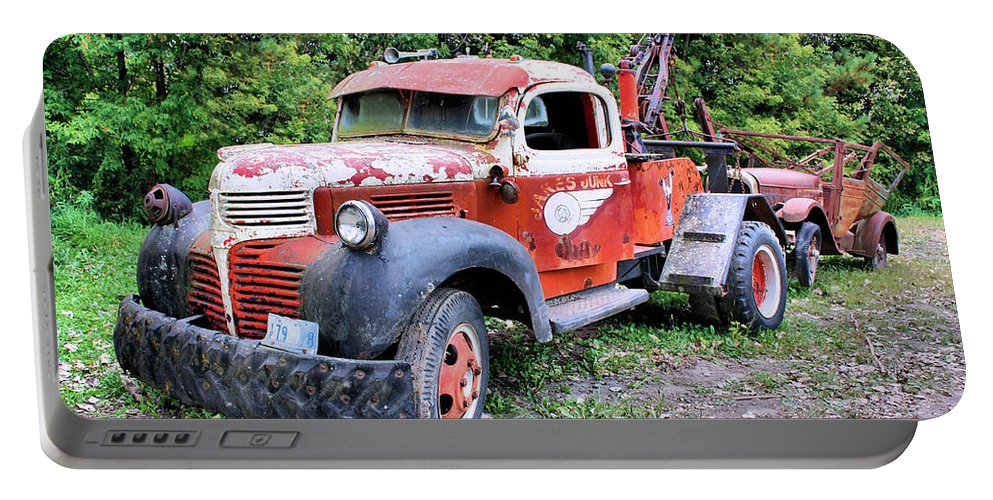 Old Truck Portable Battery Charger featuring the photograph Two for One by Kristin Elmquist
