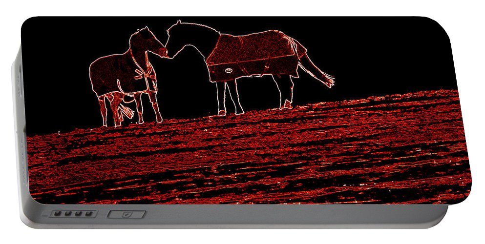 Horses Portable Battery Charger featuring the photograph Two Horses by James Hill