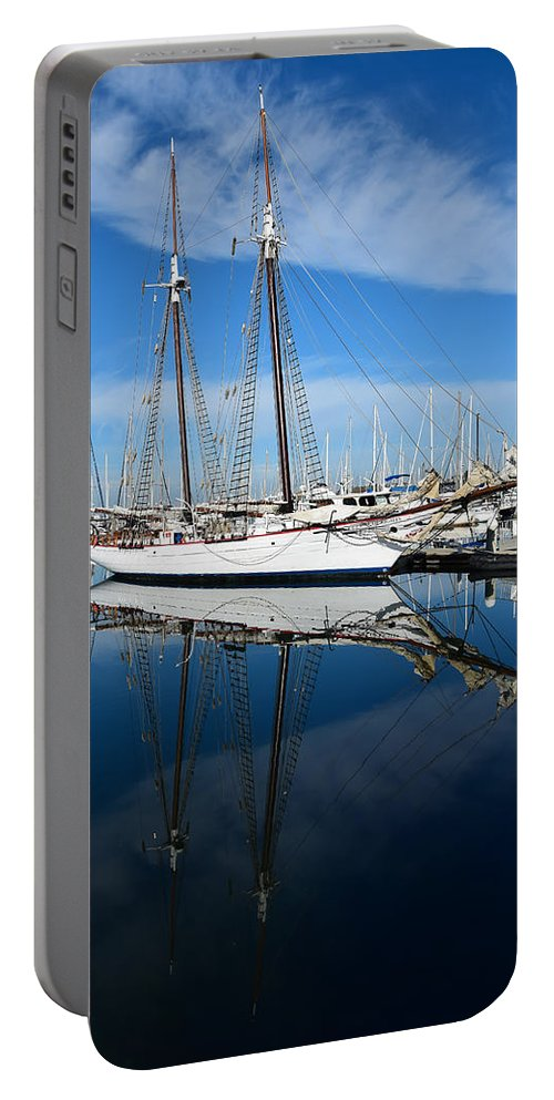 Two Mast Schooner Portable Battery Charger featuring the photograph Two Mast Schooner by Robert VanDerWal